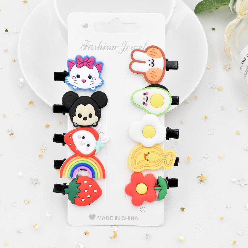 Cute cartoon ins ice cream children's hairpin girl baby hair duckbill clip small clip hairpin hair accessories NHCL263605