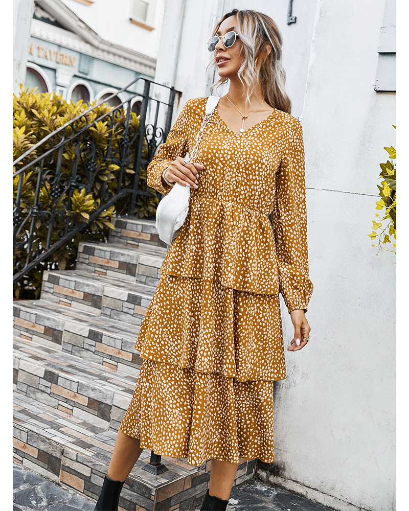 2020 new autumn women's floral cake dress NSKA208