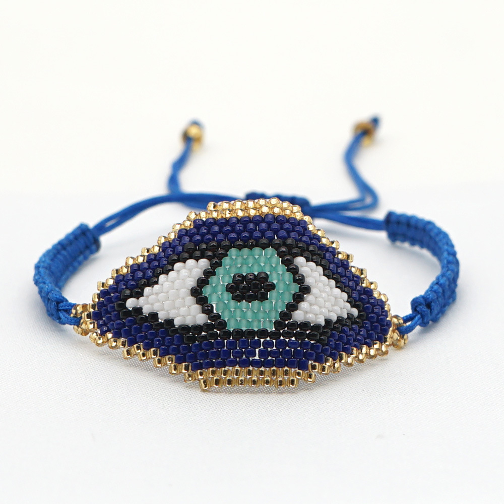 Demon Eye Blue Turkey women's Eyes Bead Weaving Bracelet NHGW248448