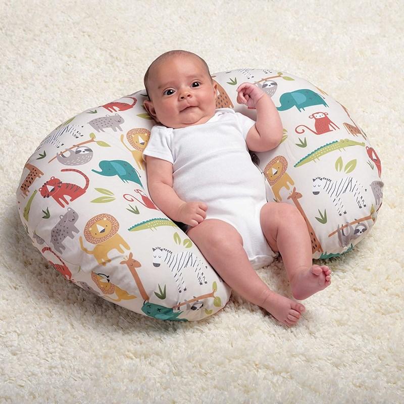 亚马逊热销婴儿喂奶枕套弹力U型哺乳枕套可拆卸枕套哺乳孕妇枕头