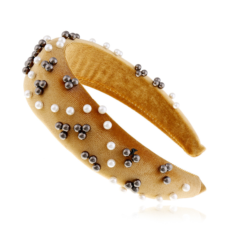 Pearl wide brim hair band for women hairpin hair band headband suppliers china NHVA202738
