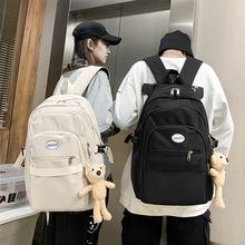校园学院风书包定制韩版时尚大容量多层旅行背包潮防水帆布双肩包