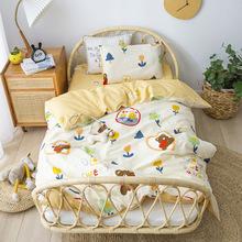 儿童幼儿园三件套纯棉含芯宝宝午睡被褥六件套动漫被套床上用品
