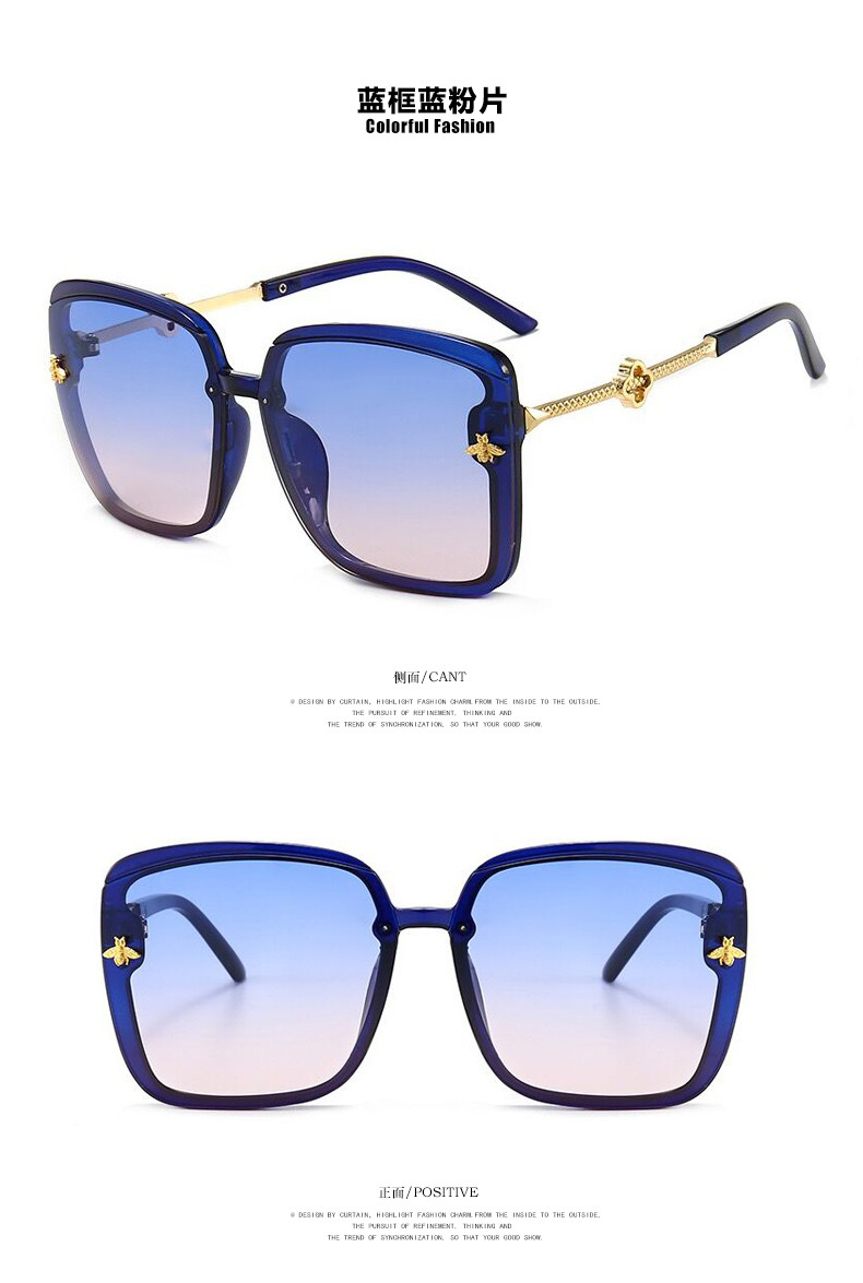 Bee Square Metal New Fashion Retro Sunglasses Wholesale NHKD203914