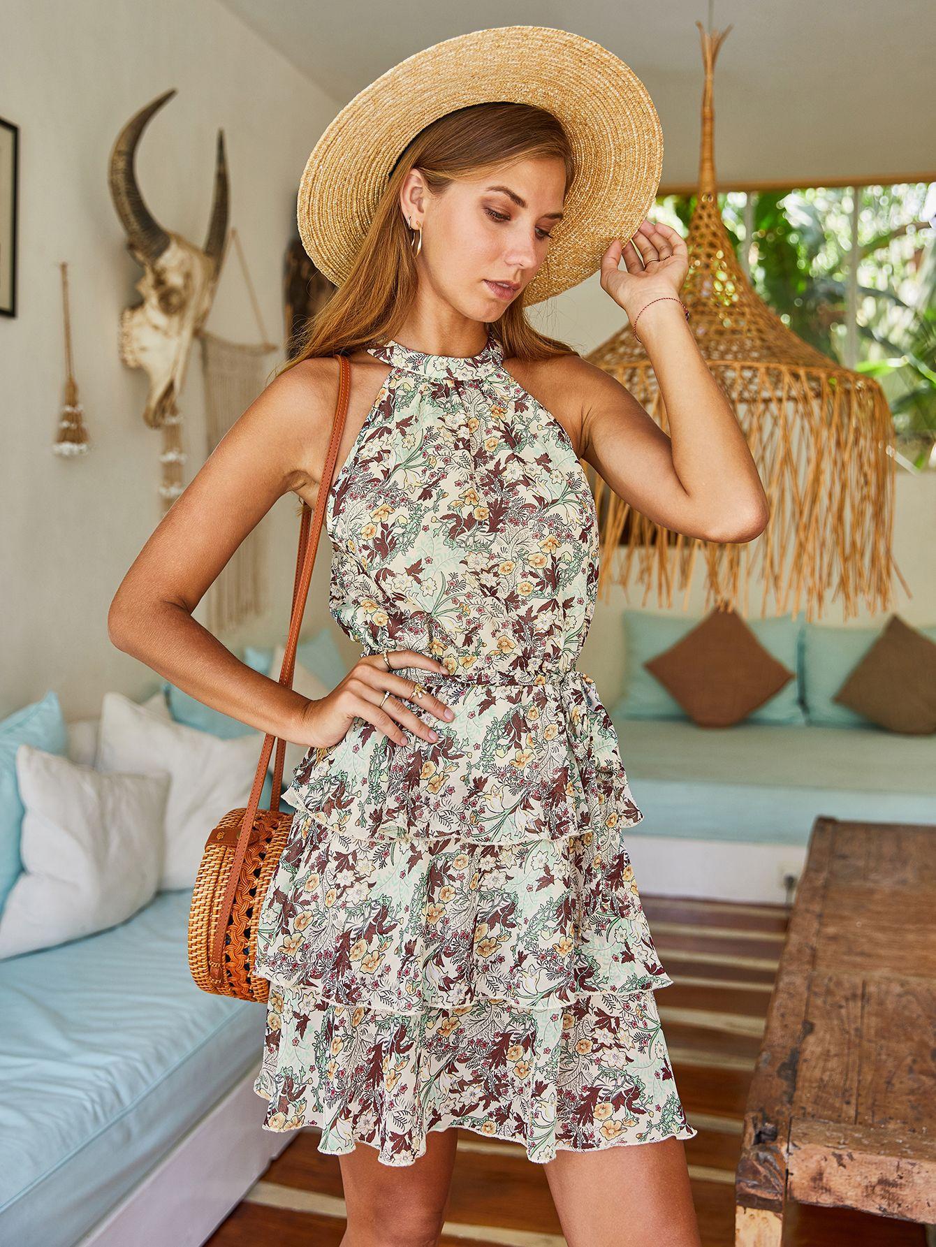 Fashion 2020 print dress for women NSKA262