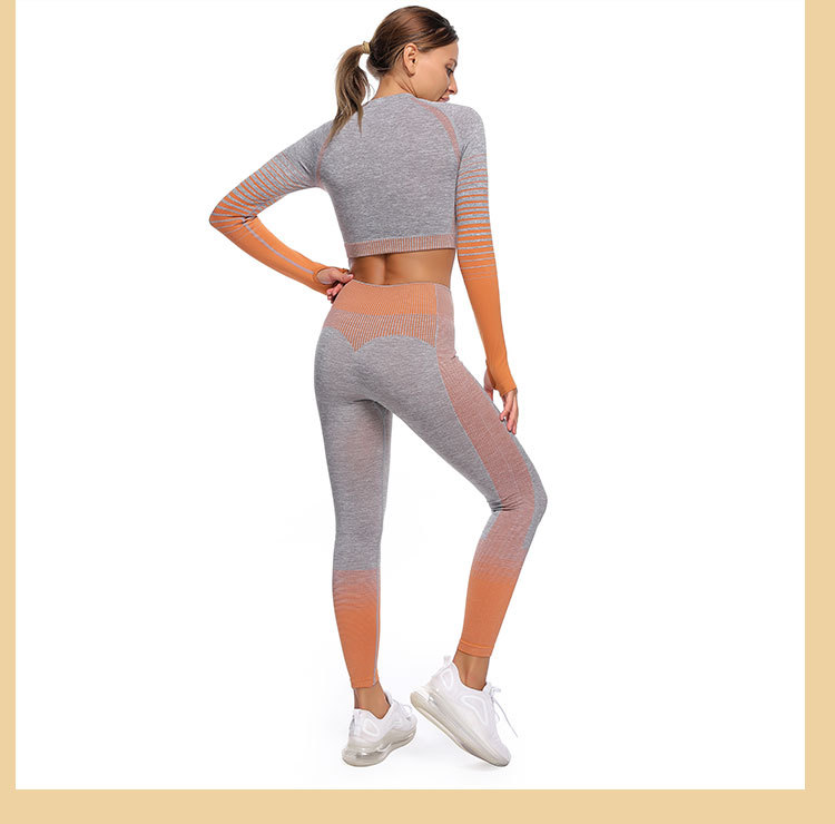 hot models gradient tights quick-drying running yoga top NSZJZ54073