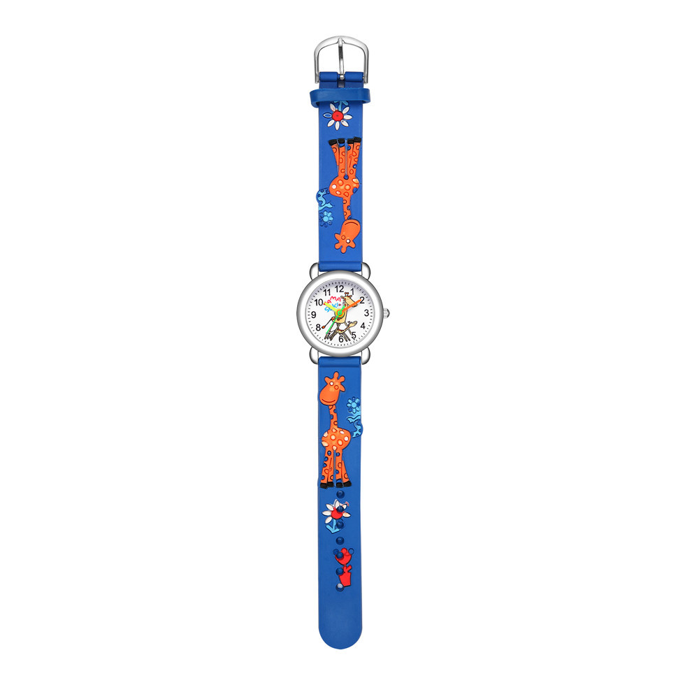 Children's cartoon watch embossed peach heart plastic band watch cute colorful fawn hand watch NHSS200495