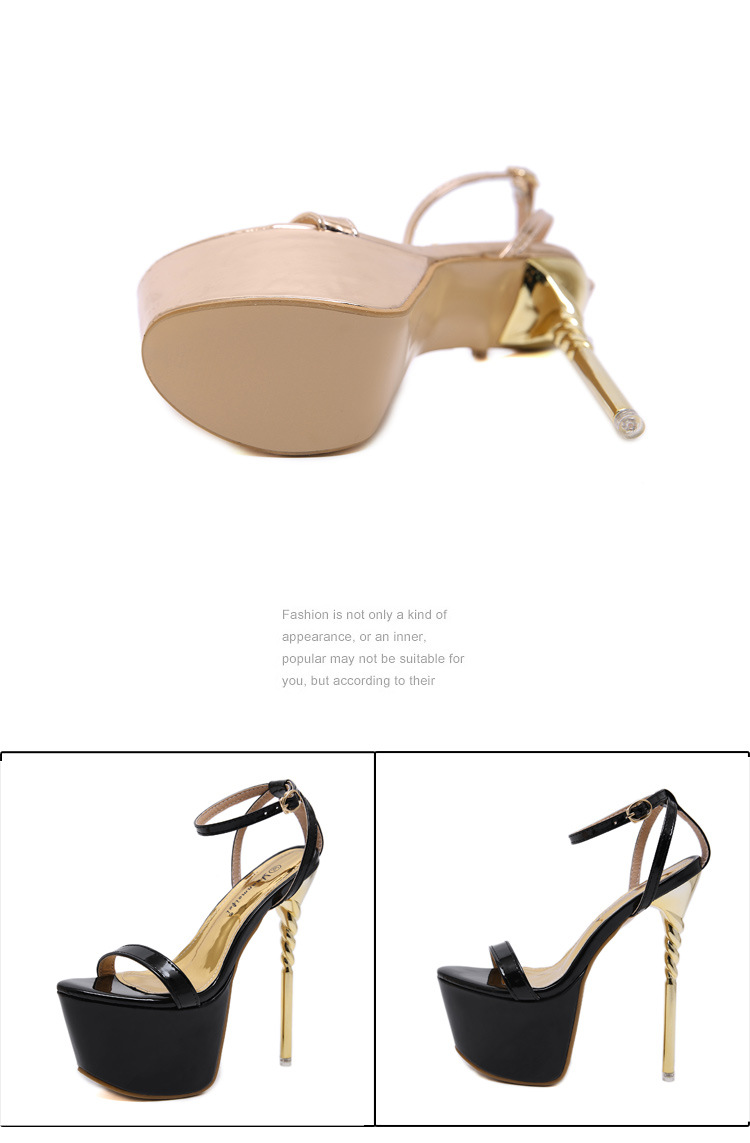 New women's shoes with ultra-fine and flat platform sandals NHSO203234
