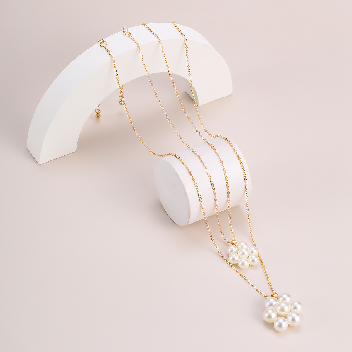 Hot selling  Fashion multilayer pearl  womens necklace  NHXR251164
