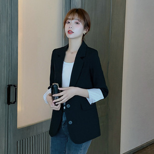 2020 Korean version of the spring casual new product long-sleeved small suit jacket fashion large size net red same paragraph ladies suit trend