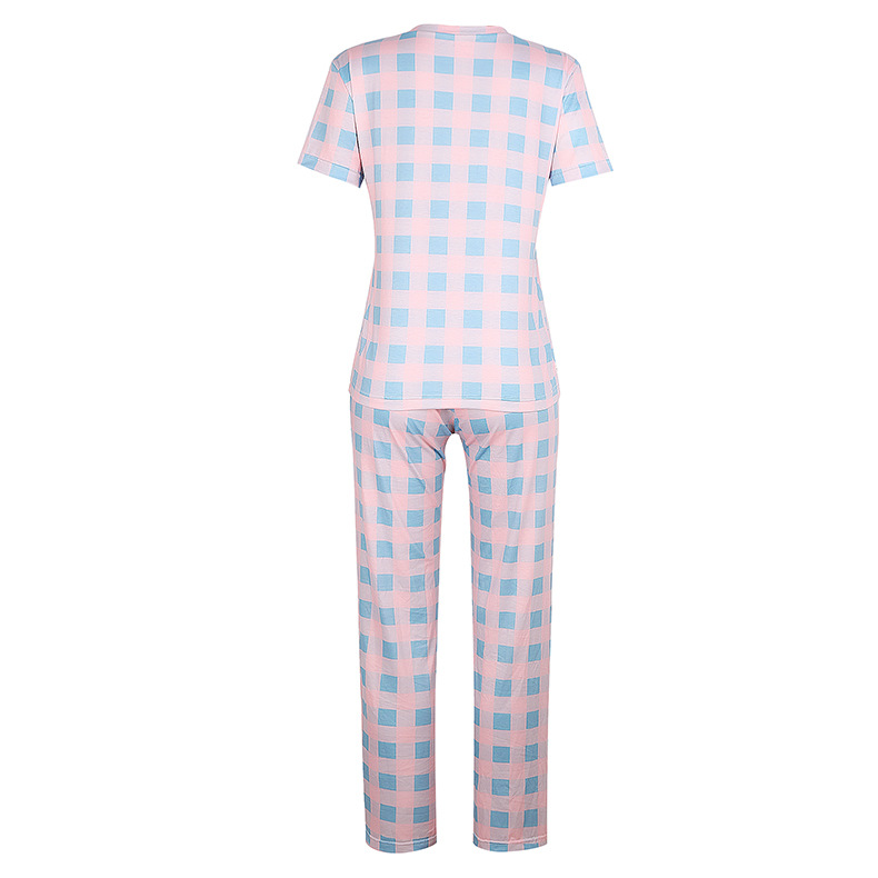 new hot models women's printed two-piece pajamas suit home service NSKX6243