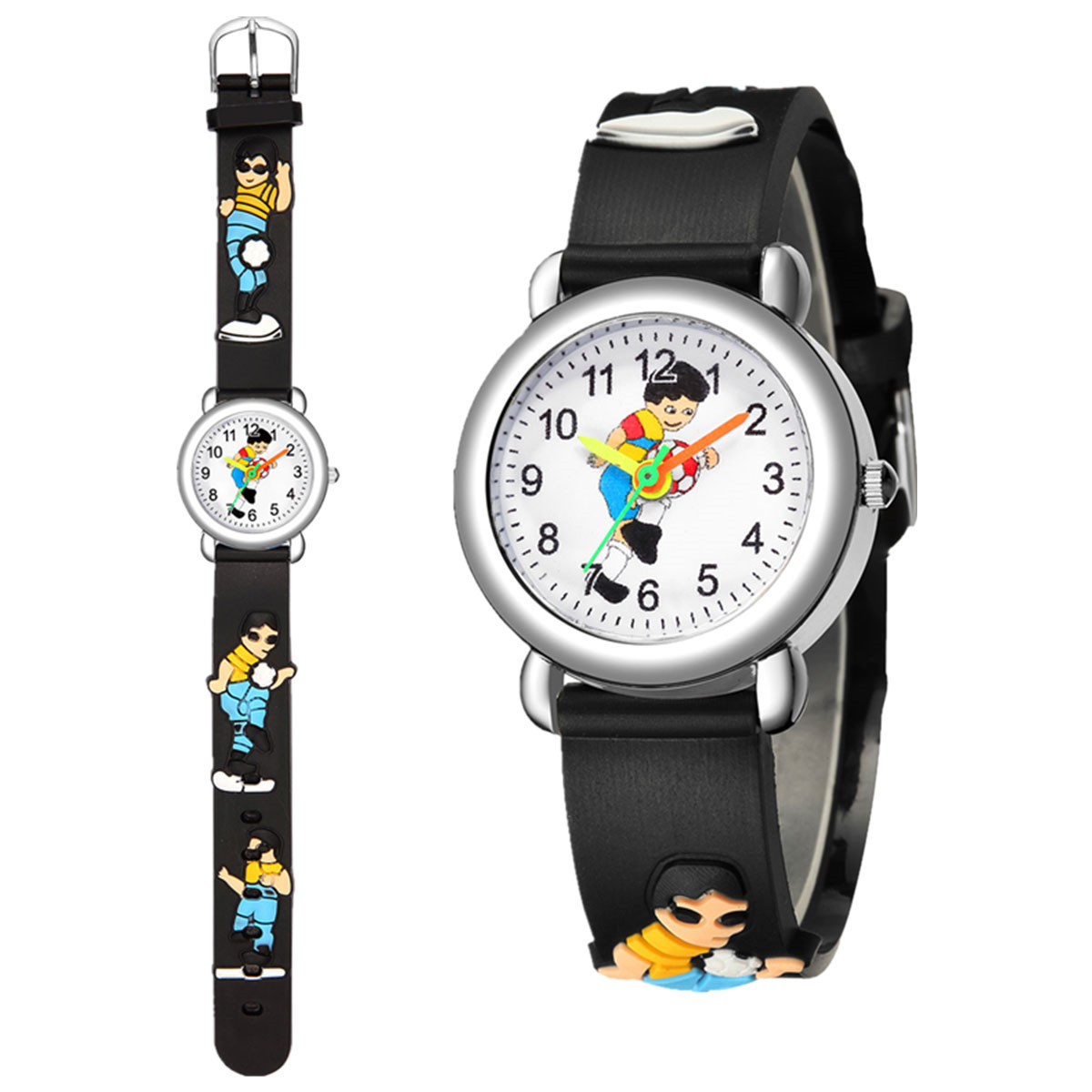 Cute Football Pattern Plastic Band Sports Watch Boy Watch Wholesale NHSY202005
