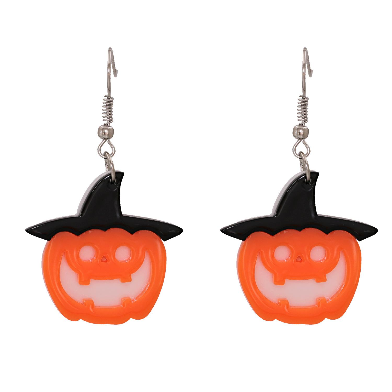 Halloween pumpkin ghost acrylic resin earrings wholesale nihaojewelry NHJJ400088