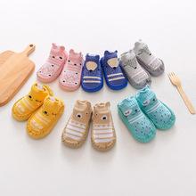 儿童新款卡通婴儿皮底袜子男女宝宝学步地板袜防滑软底鞋袜学步鞋