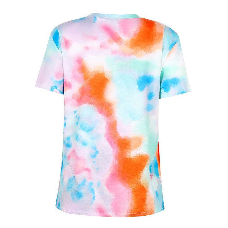 loose short-sleeved printed T-shirt  NSKX10178