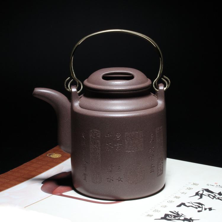 宜兴紫砂壶 国家工艺师 王红娟 全手茶壶 洋桶壶 正品 600cc