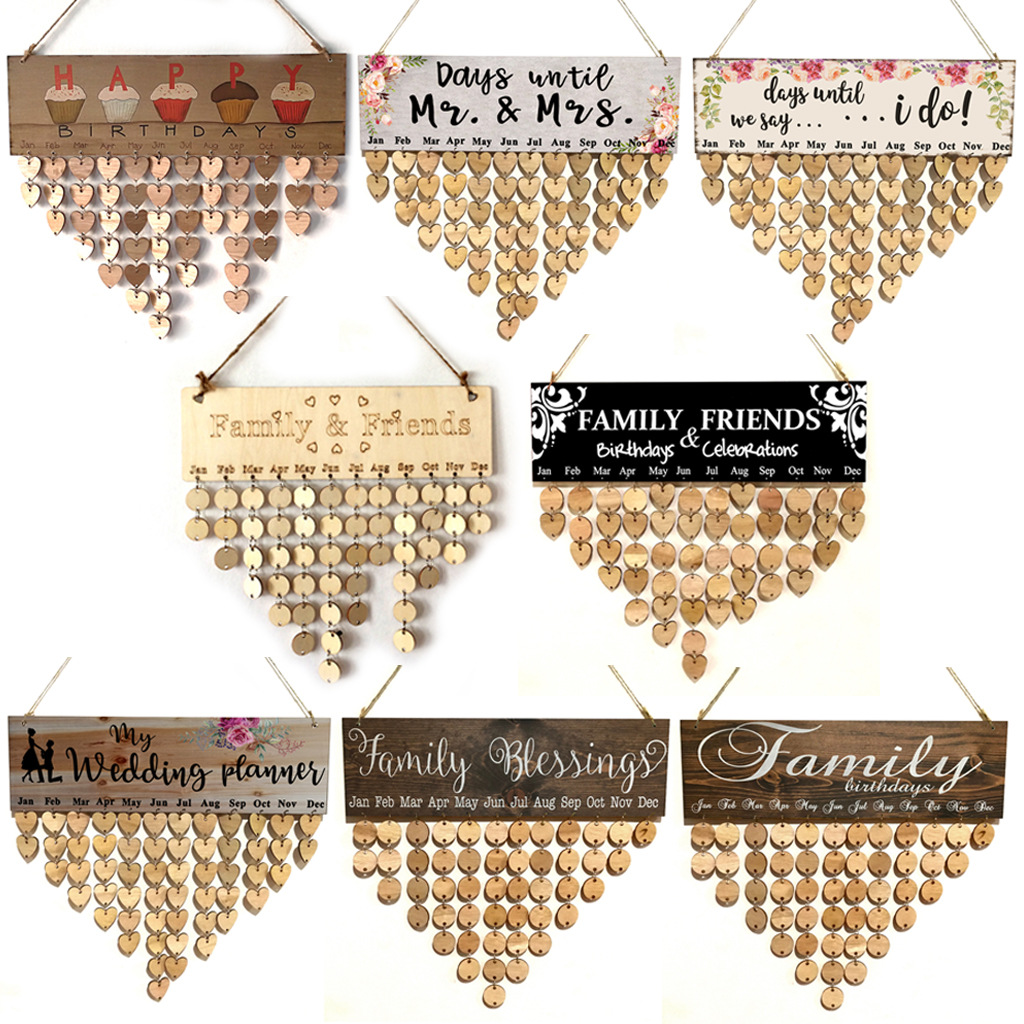 厂家直销Wood family and friends calendar木头日历ebay可定制