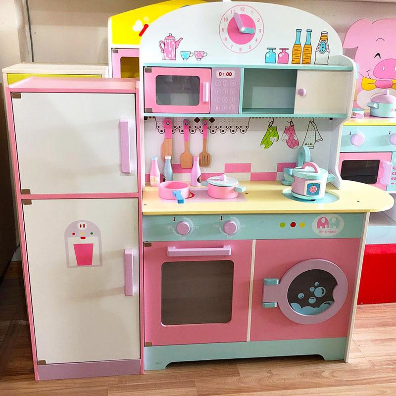 木制仿真过家家冰箱厨房大型儿童体验木质益智男女孩切切玩具礼物