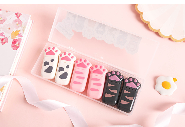 Cute cat claw correction belt set creative alteration belt mini correction belt correction belt student stationery NHHE202213