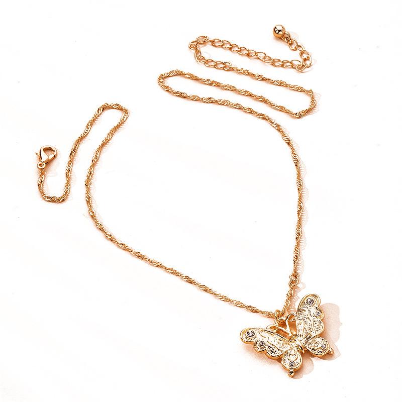 Fashion fresh butterfly clavicle chain  temperament fashion charm necklace NHAI254554
