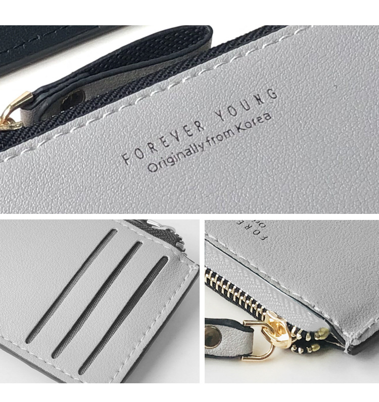 Korean fashion new zipper wallet creative coin purse short wallet business card bag ultra-thin wallet new products wholesale nihaojewelry NHBN222076