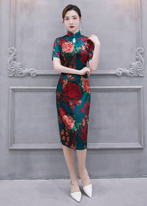 Chinese Dresses Qipao for women robe chinoise cheongsam Qipao season long single layer cheongsam antique cheongsam cheongsam skirt