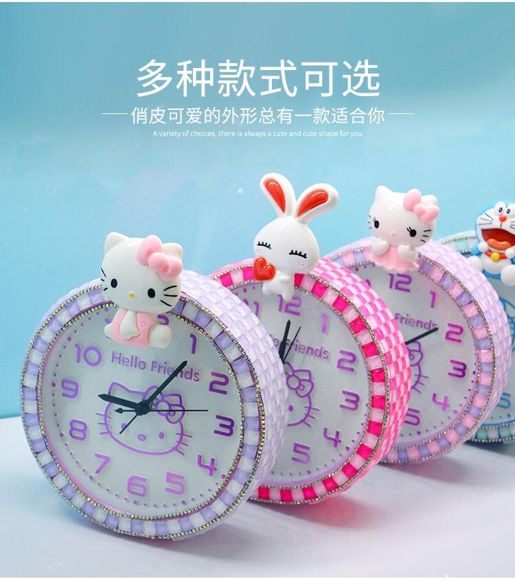 儿童手工diy马赛克闹钟钟表制作 自制时钟创意材料包女孩礼物玩具