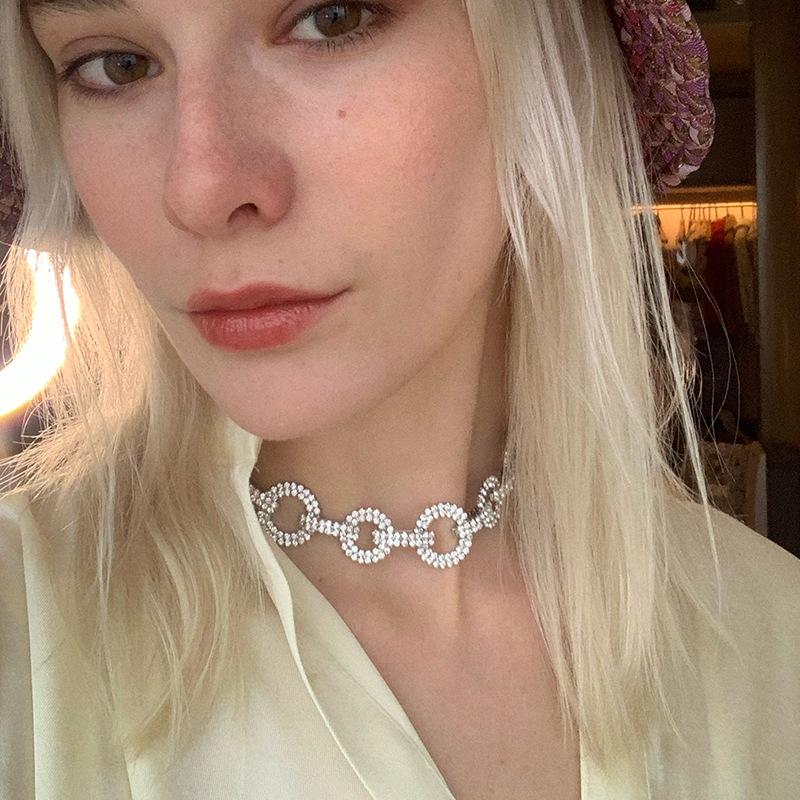 fashion diamond Cuban thick chain necklace  NHYQ281026