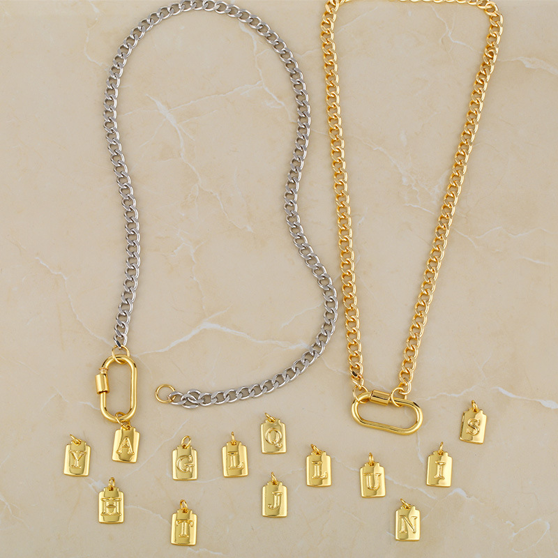 Cuban necklace 26 letter necklace  NHAS278918