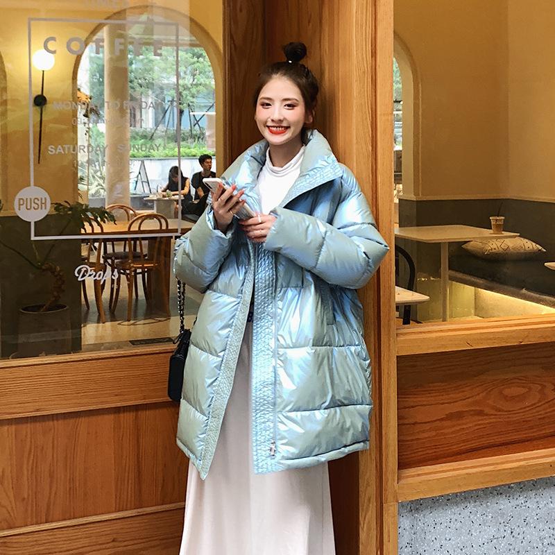 韩国chic2020冬季新款女装羽绒棉服女中长款加厚宽松百搭大码外套