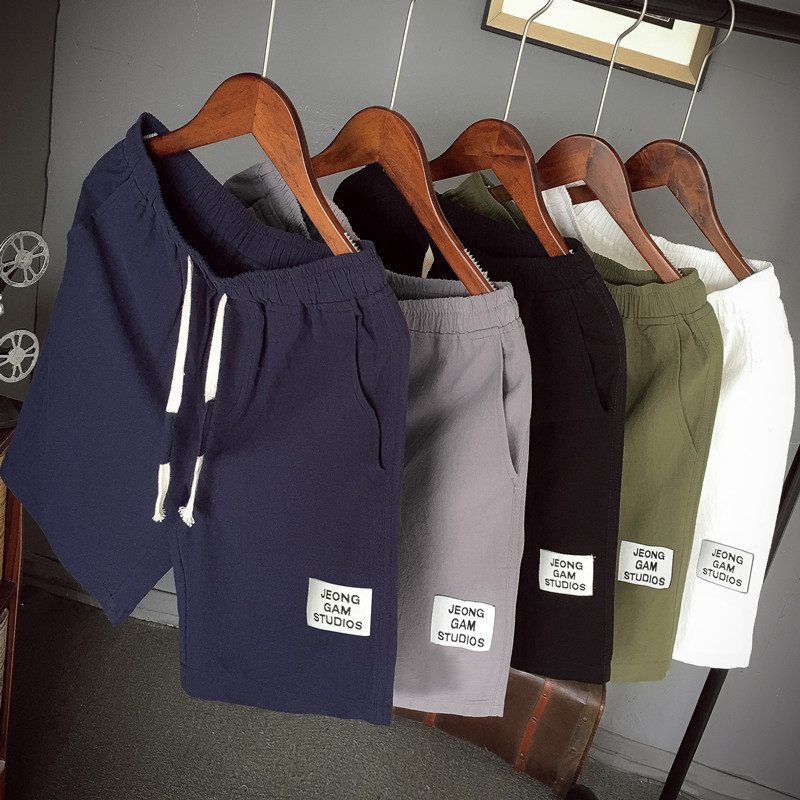 Summer new Chinese style men's shorts co...