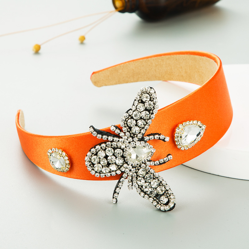 solid color satin cloth inlaid rhinestones headband  NHLN285594