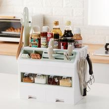 多功能家用厨房调味料置物架 创意刀具餐具套装挂钩抽屉收纳架