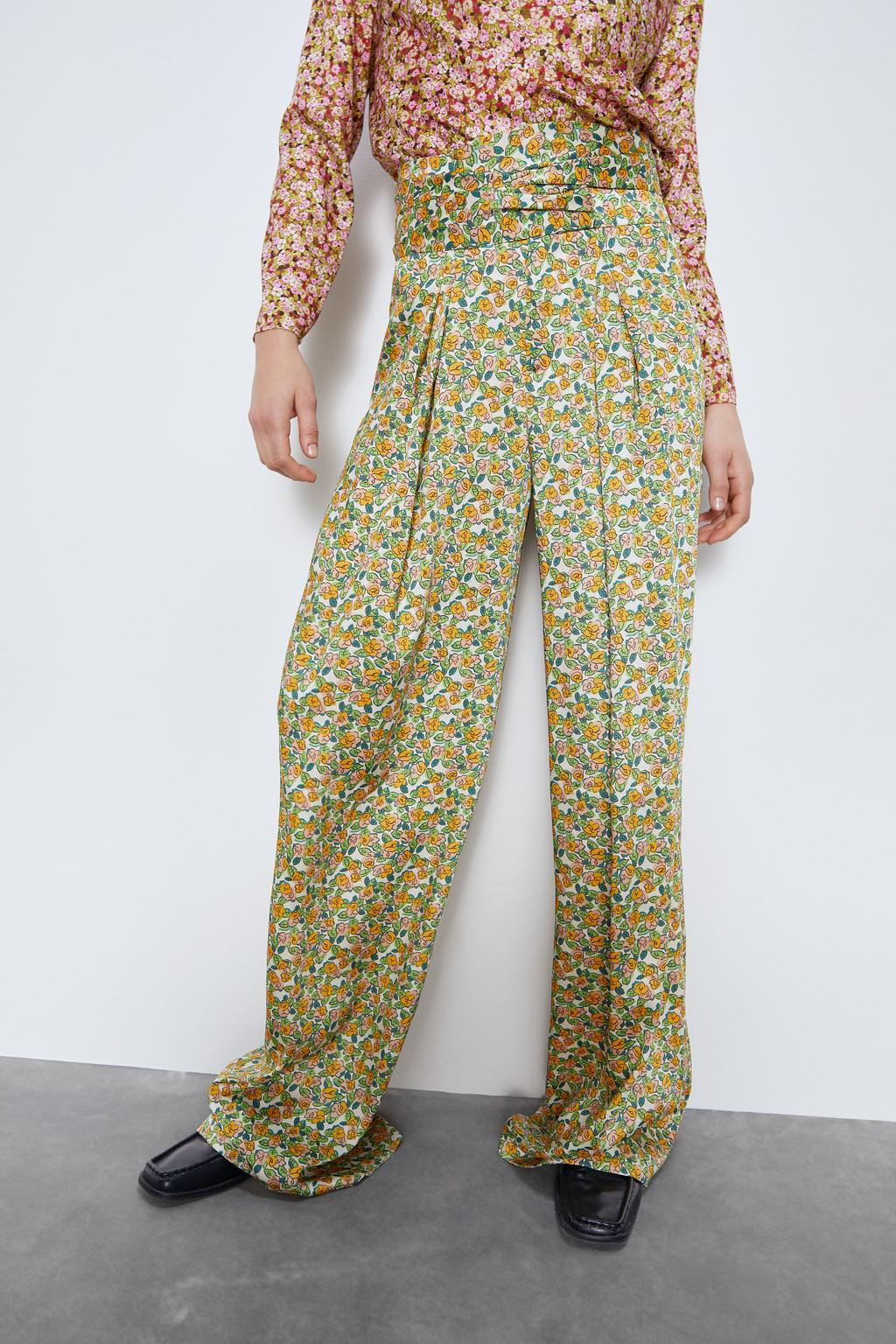 Wholesale New Fashion Women's Flower Print Wide Leg Pants NHAM201489