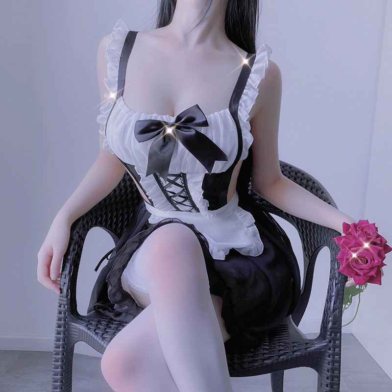 Cosplay French Apron Maid Servant Lolita maid corner to play a sexy lingerie