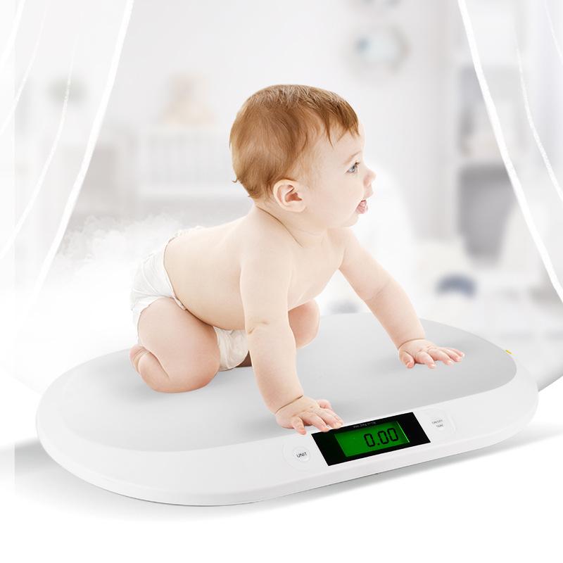外贸新款新生儿体重电子秤带卷尺20kg迷你婴儿秤邮包称身高测量仪