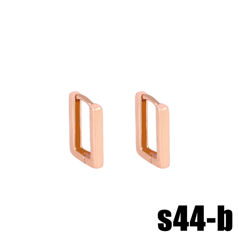 Geometric Rhinestone Earrings Zircon Stud Earrings Wholesale NHAS205242