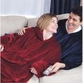 新款加厚懒人套头电视毯 户外防寒保暖睡袍 连帽抓绒保暖睡衣批发
