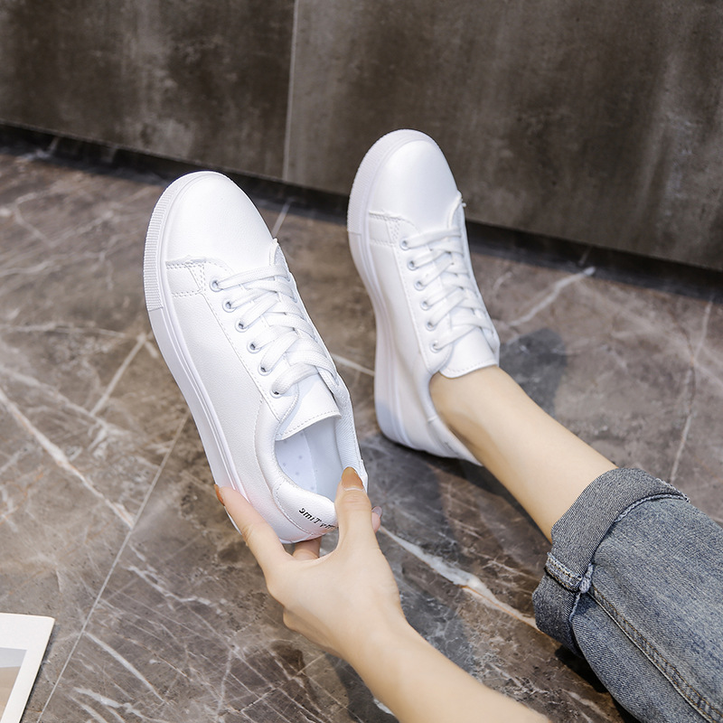 Thick-soled White Shoes Women Round Toe Sneakers Sports Casual Shoes