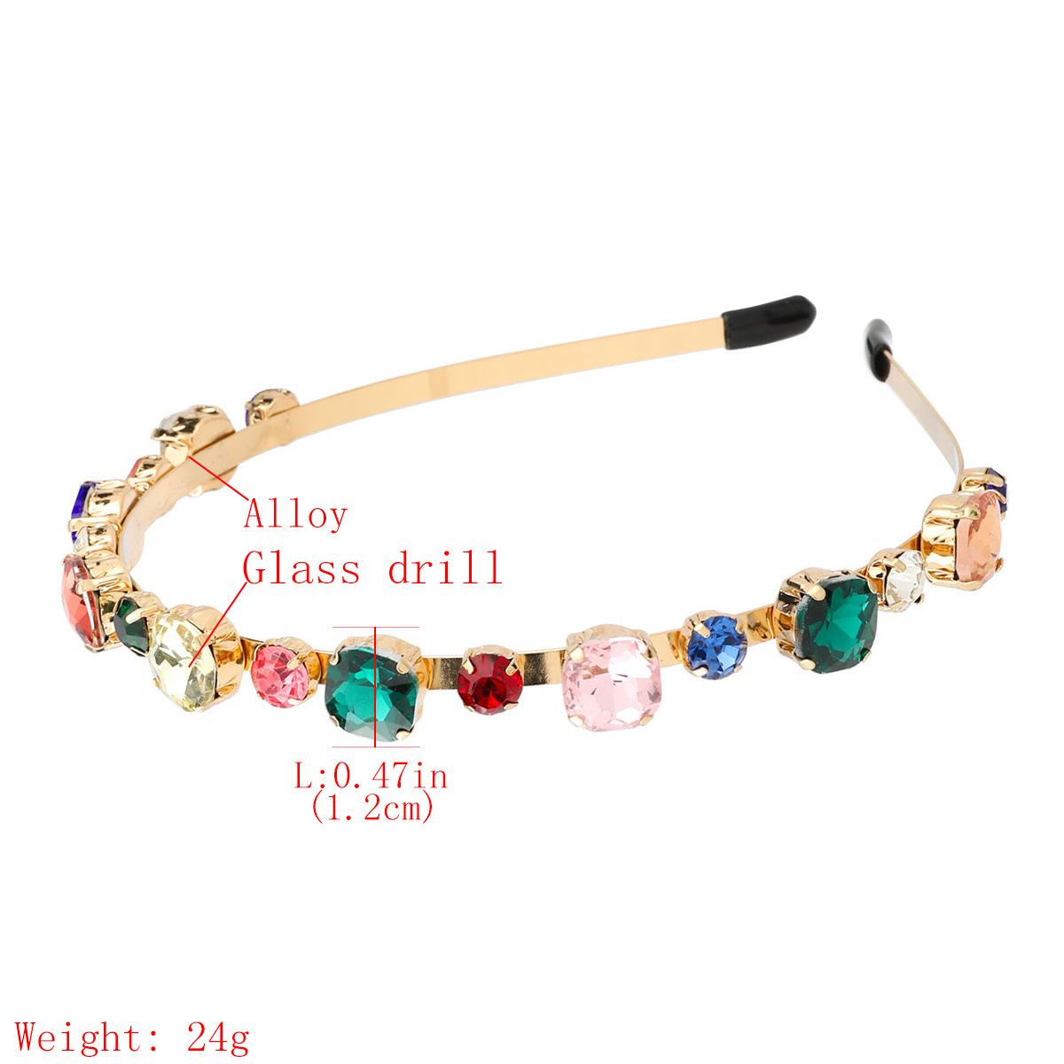 Hot sale alloy  round glass full diamond trend women's hair accessories nihaojewelry NHJE238810