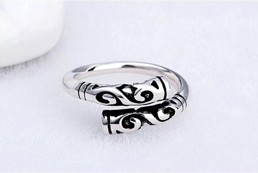 Fashion jewelry neutral gold hoop stick ring tight mantra ring foreign trade adjustable ring jewelry wholesale NHGO217529