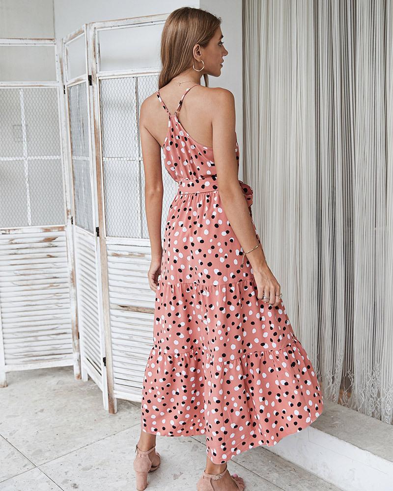fashion summer polka dot holiday style big dress  NSKA263