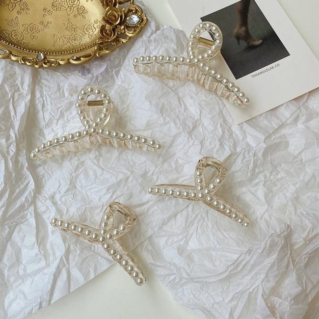 Korean headdress Pearl hair clip South new head large plate hair clip wholesale nihaojewelry NHSM237100