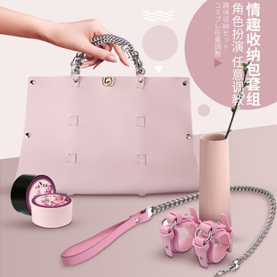 Flirting fun supplies sm props handcuffs bundled couples orgasm with love bed equipment set sex tools nipple clip