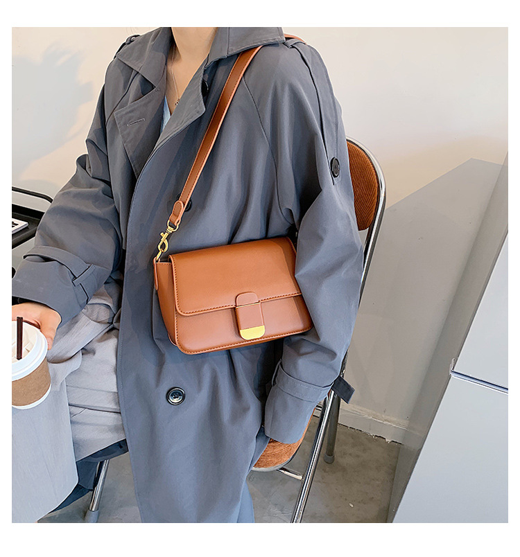 Simple autumn and winter new fashion all-match messenger single shoulder small square bag NHLH271587
