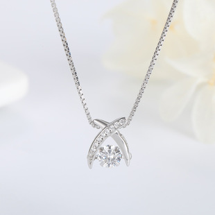 Factory direct wholesale S925 sterling silver necklace female Korean version short clavicle chain Japanese and Korean simple smart pendant jewelry
