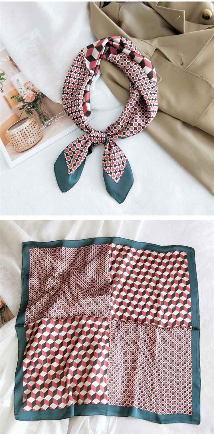 small square silk fashion scarf  NHMN279634