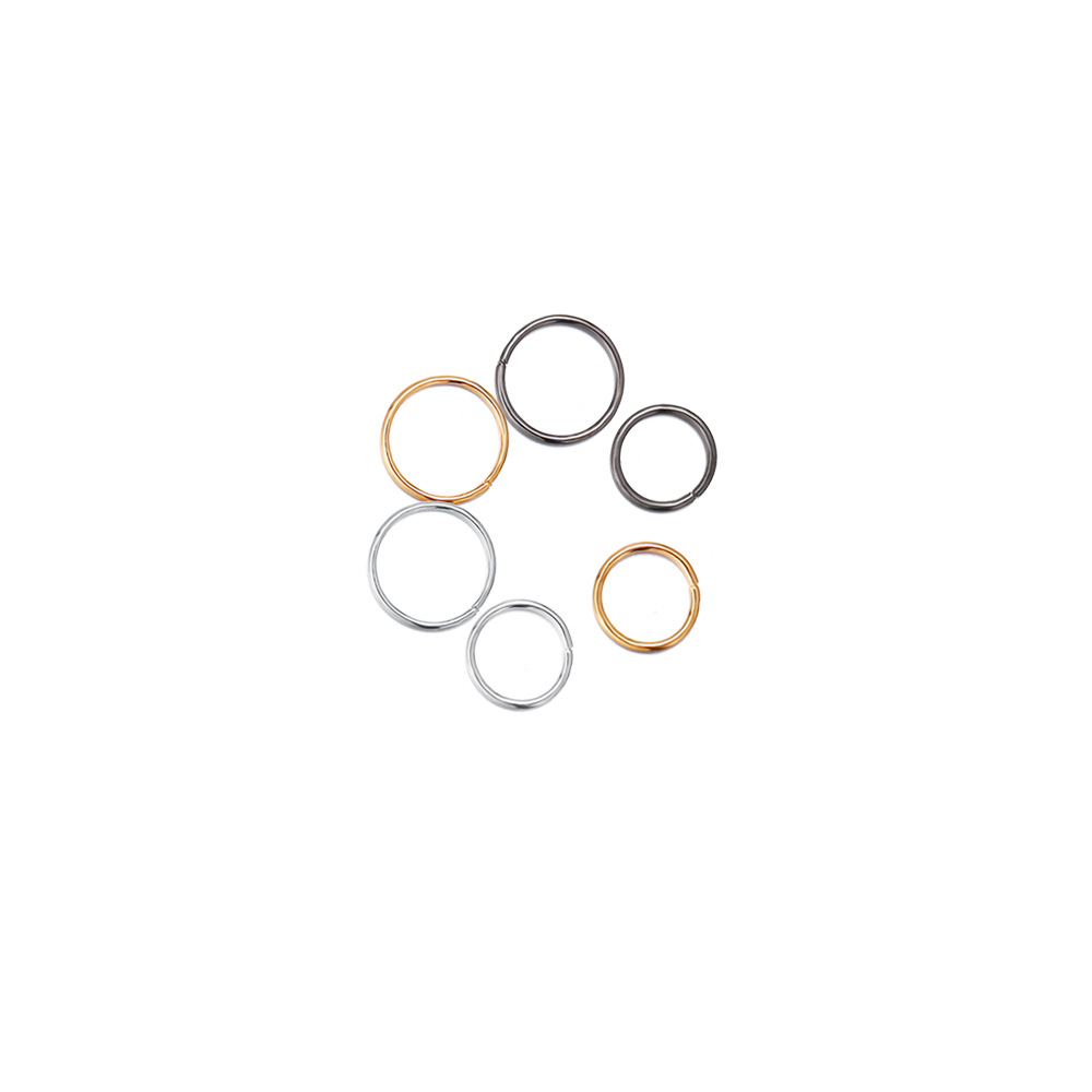 new nose ring creative nose nail nose decoration gold silver black circle 60 pack wholesale nihaojewelry NHPJ225495