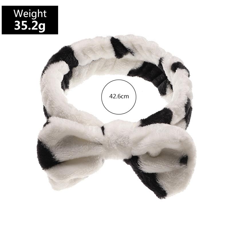 fashion new plush bow wash face  headband  NHAU280593