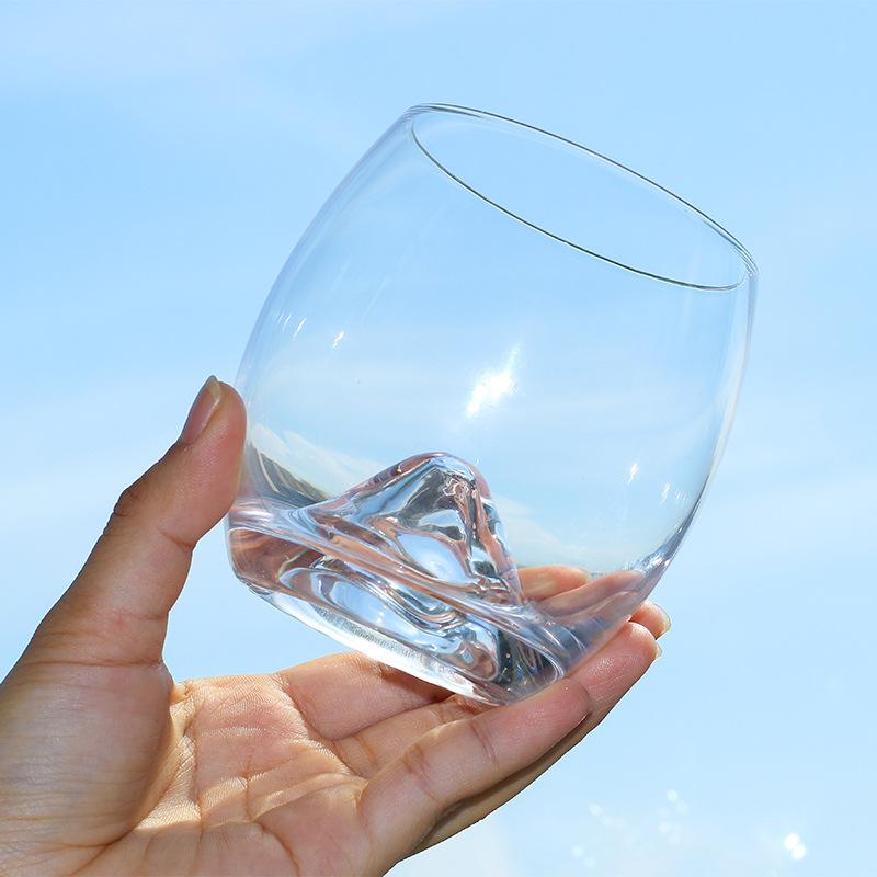 美芝丽创意手工火山底威士忌杯玻璃蛋杯水杯酒吧KTV酒杯批发